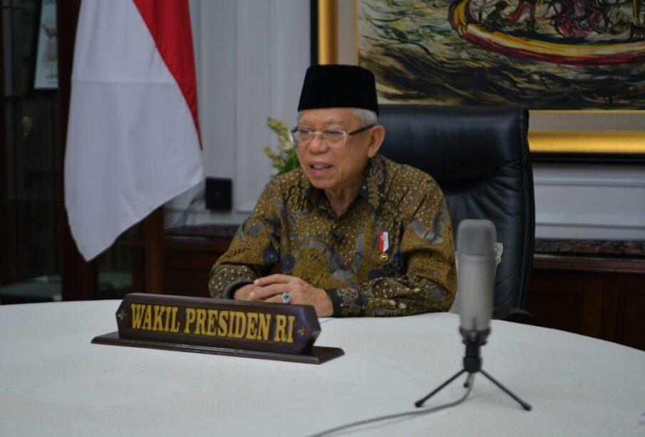 Wapres Ma'ruf Amin membuka Munas ke VI APERSI secara Virtua (Foto: Biro Pers Wapres)