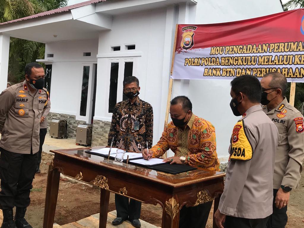 REI Siap Pasok Hunian Personel Polda Bengkulu
